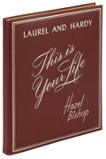 Movie/TV Memorabilia, Stan Laurel and Oliver Hardy 1954 screen used book bound script from This is Your Life....