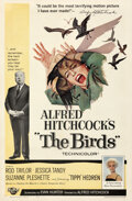 Movie Posters:Hitchcock, The Birds (Universal, 1963). Fine- on Linen. One S...