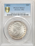 1824 50C O-108a, R.2, MS63 PCGS. PCGS Population: (1/0 and 0/0+). NGC Census: (0/1 and 0/0+). MS63. Mintage 3,504,954...