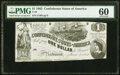 Confederate Notes:1862 Issues, T44 $1 1862 PMG Uncirculated 60.. ...