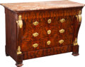 Furniture, A Late Empire Mahogany Commode with Gilt Bronze Mounts, first quarter 19th century. 37-1/4 x 53-1/4 x 24 inches (94.6 x 135....