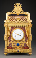 Clocks & Mechanical, A Fine French Louis Philippe Gilt Bronze and Marble Mantel Clock, second quarter of 19th century . Marks: Guibet Lne a Par...