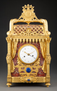 A Fine French Louis Philippe Gilt Bronze and Marble Mantel Clock, second quarter of 19th century Marks: Guibet