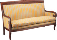 A French Restauration Mahogany Settee 40-1/2 x 68-1/4 x 23-1/2 inches (102.9 x 173.4 x 59.7 cm)  Property from the Coll...