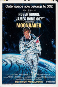 "Moonraker (United Artists, 1979). Rolled, Fine. One Sheet (27"" X 41"") Advance Style A, Dan Goozee Artwork. Jam..."