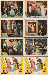 """Almost Married & Other Lot (Universal, 1942). Fine+. Title Lobby Cards (2) & Lobby Cards (6) (11"""" X 14""""..."""