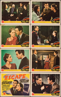 """Escape (MGM, 1940). Overall: Fine/Very Fine. Lobby Card Set of 8 (11"""" X 14""""). Drama. ... (Total: 8 Items)"""