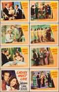 """Movie Posters:Comedy, Ladies Must Live (Warner Bros., 1940). Very Fine-. Lobby Card Set of 8 (11"""" X 14""""). Comedy.. ... (Total: 8 Items)"""