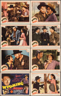 """Movie Posters:Western, Wyoming (MGM, 1940). Very Fine. Lobby Card Set of 8 (11"""" X 14""""). Western.. ... (Total: 8 Items)"""
