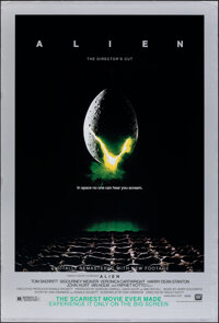 "Alien (20th Century Fox, R-2003). Rolled, Very Fine-. Director's Cut One Sheet (27"" X 40"") DS, Style B. Scienc..."