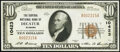 National Bank Notes:Alabama, Decatur, AL - $10 1929 Ty. 1 The Central National Bank Ch. # 10423 About Uncirculated.. ...
