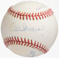 Autographs:Baseballs, St. Louis Cardinals 1940's Starting Outfield Multi-Signed Baseball - Musial, Slaughter, Moore....