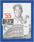 Autographs:Others, Yogi Berra Signed 1955 World Series Print. Offere...