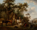 Paintings, Jean-Louis Demarne (French, 1750-1829). L'Abreuvoir. Oil on canvas. 19-3/4 x 24-1/4 inches (50.2 x 61.6 cm). ...