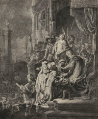Rembrandt van Rijn (Dutch, 1606-1669) Christ Before Pilate: Large Plate, 1635 Etching with engraving