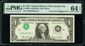 Error Notes:Inverted Third Printings, Inverted Third Printing Error Fr. 1908-J $1 1974 Federal Reserve Note. PMG Choice Uncirculated 64 EPQ.. ...