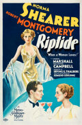 Movie Posters:Drama, Riptide (MGM, 1934). Fine- on Linen. One Sheet (27...