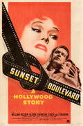 """Movie Posters:Film Noir, Sunset Boulevard (Paramount, 1950). Fine/Very Fine on Linen. One Sheet (27"""" X 41"""") Style A.. ..."""
