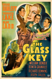 """The Glass Key (Paramount, 1942). Fine+ on Linen. One Sheet (27"""" X 41"""")"""