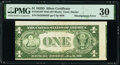 Error Notes:Miscellaneous Errors, Misaligned Back Printing Error Fr. 1613W $1 1935D Silver Certificate. PMG Very Fine 30.. ...