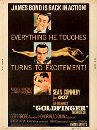 """Goldfinger (United Artists, 1964). Rolled, Fine/Very Fine. Poster (30"""" X 40"""")"""