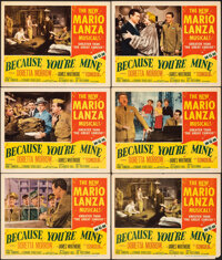 """Because You're Mine & Other Lot (MGM, 1952). Overall: Fine/Very Fine. Lobby Cards (9) (11"""" X 14""""). Musical..."""