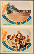 """Movie Posters:Action, Devil Dogs of the Air (Warner Bros., 1935). Fine/Very Fine. Lobby Cards (2) (11"""" X 14""""). Action.. ... (Total: 2 Items)"""