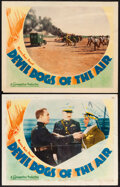 """Movie Posters:Action, Devil Dogs of the Air (Warner Bros., 1935). Fine. Lobby Cards (2) (11"""" X 14""""). Action.. ... (Total: 2 Items)"""