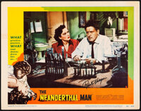 """The Neanderthal Man (United Artists, 1953). Fine/Very Fine. Autographed Lobby Card (11"""" X 14""""). Horror"""