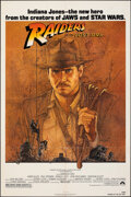 """Movie Posters:Adventure, Raiders of the Lost Ark (Paramount, 1981). Folded, Overall Grade: Very Fine-. One Sheet (27"""" X 41"""") Program (4 Pages, 8.5"""" X... (Total: 3 Items)"""