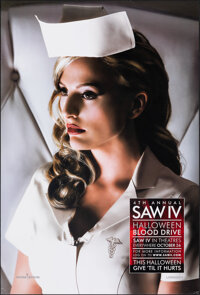 """Saw IV & Other Lot (Lionsgate, 2007). Rolled, Very Fine+. One Sheets (2) (27"""" X 40"""") SS Advance, Nurse Clo..."""
