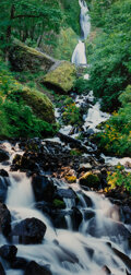 Photographs, John William Telford (American, 1944-2019). Waterfall and Rocks. Dye coupler. 28 x 14 inches (71.1 x 35.6 cm). Signed in...