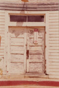 Photographs, William Christenberry Jr. (American, 1936). Door of County Store, Pickensville, Alabama, 1975. Dye coupler. 4-5/8 x 3-1/...