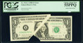 Gutter Fold Error Fr. 1914-A $1 1988 Federal Reserve Note. PCGS Choice About New 55PPQ