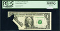 Error Notes:Printed Tears, Printed Tear Error Fr. 1921-A $1 1995 Federal Reserve Note. PCGS Choice About New 58PPQ.. ...