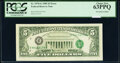 Error Notes:Third Printing on Reverse, Third Printing on Back Error Fr. 1978-G $5 1985 Federal Reserve Note. PCGS Choice New 63PPQ.. ...