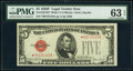 Small Size:Legal Tender Notes, Fr. 1531* $5 1928F Wide I Legal Tender Star Note. PMG Choice Uncirculated 63 EPQ.. ...