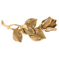 Estate Jewelry:Brooches - Pins, Diamond, Gold Brooches. ... (Total: 2 Items)