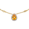 Estate Jewelry:Necklaces, Yellow Sapphire, Diamond, Gold Necklace. ...