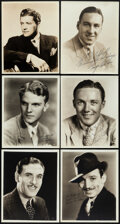 """Movie Posters:Western, George O'Brien & Other Lot (1930s-1940s). Overall: Very Fine. Signed Portrait Photos (6) (8"""" X 10""""). Western.. ... (Total: 6 Items)"""