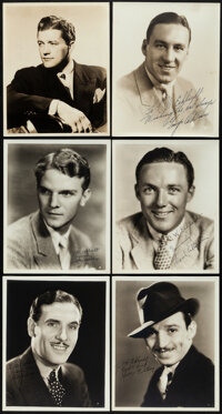"""George O'Brien & Other Lot (1930s-1940s). Overall: Very Fine. Signed Portrait Photos (6) (8"""" X 10""""). Weste..."""
