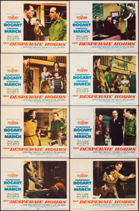 """The Desperate Hours (Paramount, 1955). Fine/Very Fine. Lobby Card Set of 8 (11"""" X 14""""). Film Noir. ... (Total:..."""