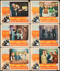 """A Girl in Every Port (RKO, 1952). Fine. Lobby Cards (6) (11"""" X 14""""). Comedy. ... (Total: 6 Items)"""