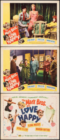 """Movie Posters:Comedy, Love Happy (United Artists, 1949). Overall: Fine/Very Fine. Title Lobby Card & Lobby Cards (2) (11"""" X 14""""). Comedy.. ... (Total: 3 Items)"""