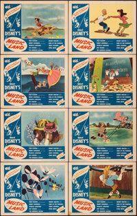 "Music Land (RKO, 1955). Fine/Very Fine. Lobby Card Set of 8 (11"" X 14""). Animation. ... (Total: 8 Items)"