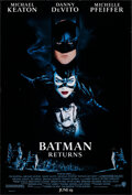 """Movie Posters:Action, Batman Returns (Warner Bros., 1992). Rolled, Very Fine. One Sheets (2) Identical (27"""" X 40"""") SS Advance, John Alvin Artwork.... (Total: 2 Items)"""