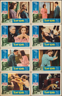 "The Cat Girl (American International, 1957). Fine/Very Fine. Lobby Card Set of 8 (11"" X 14""). Horror. ... (Tot..."