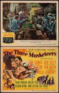"""Movie Posters:Swashbuckler, The Three Musketeers (MGM, 1948). Fine+. Title Lobby Card & Lobby Card (11"""" X 14""""). Swashbuckler.. ... (Total: 2 Items)"""