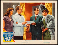 """Easy To Wed (MGM, 1946). Fine/Very Fine. Autographed Lobby Card (11"""" X 14""""). Musical"""