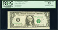 Error Notes:Miscellaneous Errors, Misaligned Face Printing Error Fr. 1910-F $1 1977A Federal Reserve Note. PCGS Choice About New 55.. ...